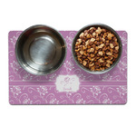 Lotus Flowers Dog Food Mat (Personalized)