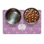 Lotus Flowers Pet Bowl Mat (Personalized)