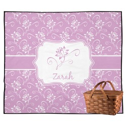 Lotus Flowers Outdoor Picnic Blanket (Personalized)