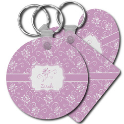 Lotus Flowers Plastic Keychains (Personalized)