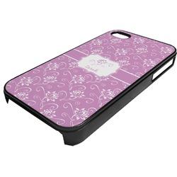 Lotus Flowers Plastic 4/4S iPhone Case (Personalized)
