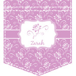 Lotus Flowers Iron On Faux Pocket (Personalized)