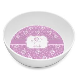 Lotus Flowers Melamine Bowl 8oz (Personalized)