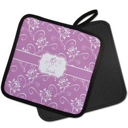 Lotus Flowers Pot Holder w/ Name or Text