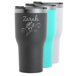 Lotus Flowers RTIC Tumbler - 30 oz (Personalized)