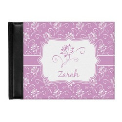 Lotus Flowers Genuine Leather Guest Book (Personalized)
