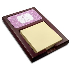 Lotus Flowers Red Mahogany Sticky Note Holder (Personalized)