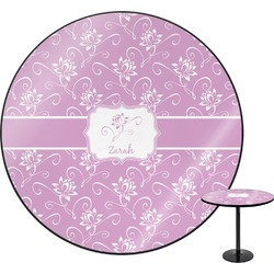Lotus Flowers Round Table (Personalized)