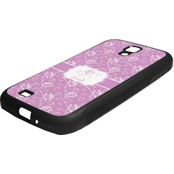 Lotus Flowers Rubber Samsung Galaxy 4 Phone Case (Personalized)