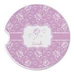 Lotus Flowers Sandstone Car Coasters (Personalized)