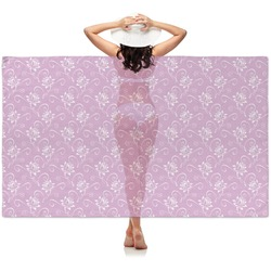 Lotus Flowers Sheer Sarong (Personalized)