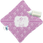 Lotus Flowers Security Blanket w/ Name or Text