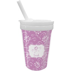 Lotus Flowers Sippy Cup with Straw (Personalized)
