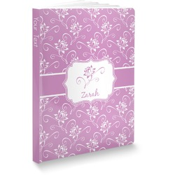 """Lotus Flowers Softbound Notebook - 5.75"""" x 8"""" (Personalized)"""