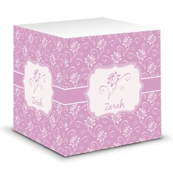 Lotus Flowers Sticky Note Cube (Personalized)