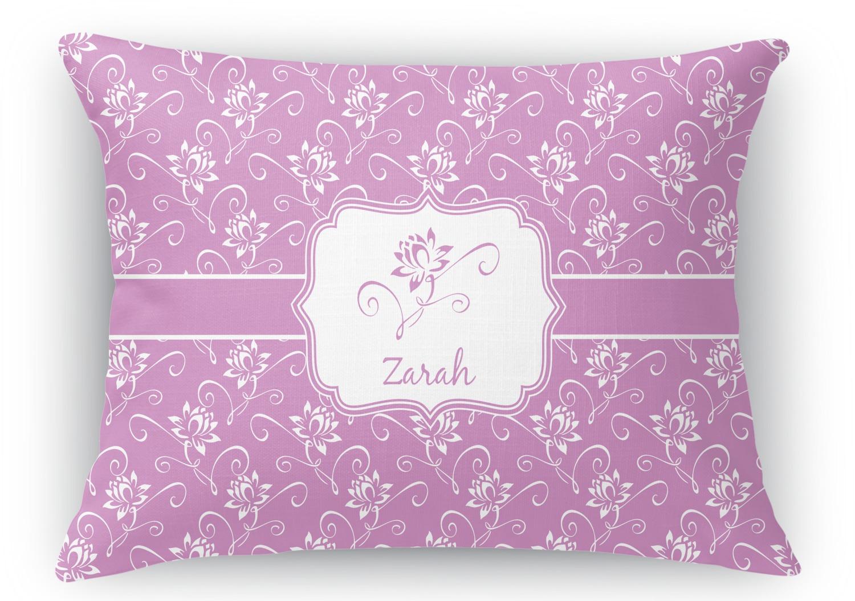 Rectangular Throw Pillow Dimensions : Lotus Flowers Rectangular Throw Pillow - 18
