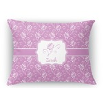 Lotus Flowers Rectangular Throw Pillow Case (Personalized)