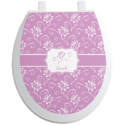 Lotus Flowers Toilet Seat Decal (Personalized)