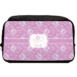 Lotus Flowers Toiletry Bag / Dopp Kit (Personalized)