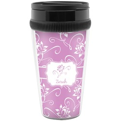 Lotus Flowers Travel Mugs (Personalized)