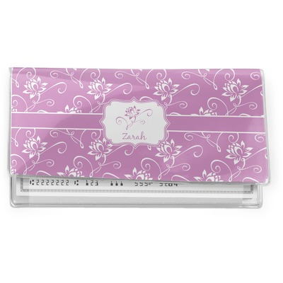 Lotus Flowers Vinyl Checkbook Cover (Personalized)