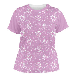 Lotus Flowers Women's Crew T-Shirt (Personalized)