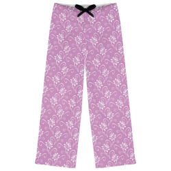 Lotus Flowers Womens Pajama Pants (Personalized)