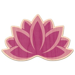 Lotus Flowers Genuine Maple or Cherry Wood Sticker (Personalized)