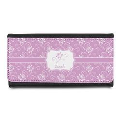 Lotus Flowers Leatherette Ladies Wallet (Personalized)