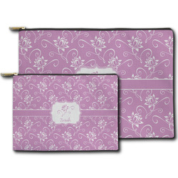 Lotus Flowers Zipper Pouch (Personalized)