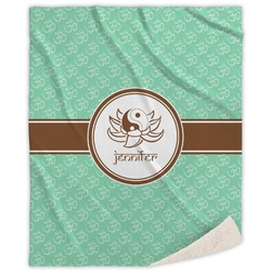 Om Sherpa Throw Blanket (Personalized)