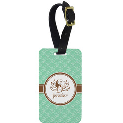 Om Metal Luggage Tag w/ Name or Text