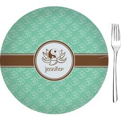 "Om Glass Appetizer / Dessert Plates 8"" - Single or Set (Personalized)"