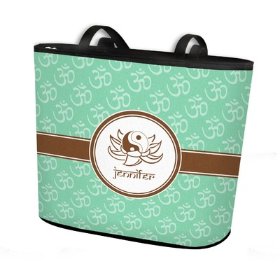 Om Bucket Tote w/ Genuine Leather Trim (Personalized)