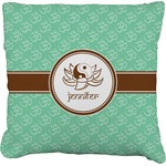 Om Faux-Linen Throw Pillow (Personalized)