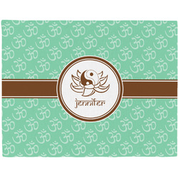 Om Woven Fabric Placemat - Twill w/ Name or Text