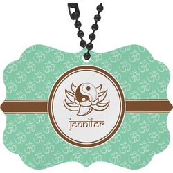 Om Rear View Mirror Charm (Personalized)