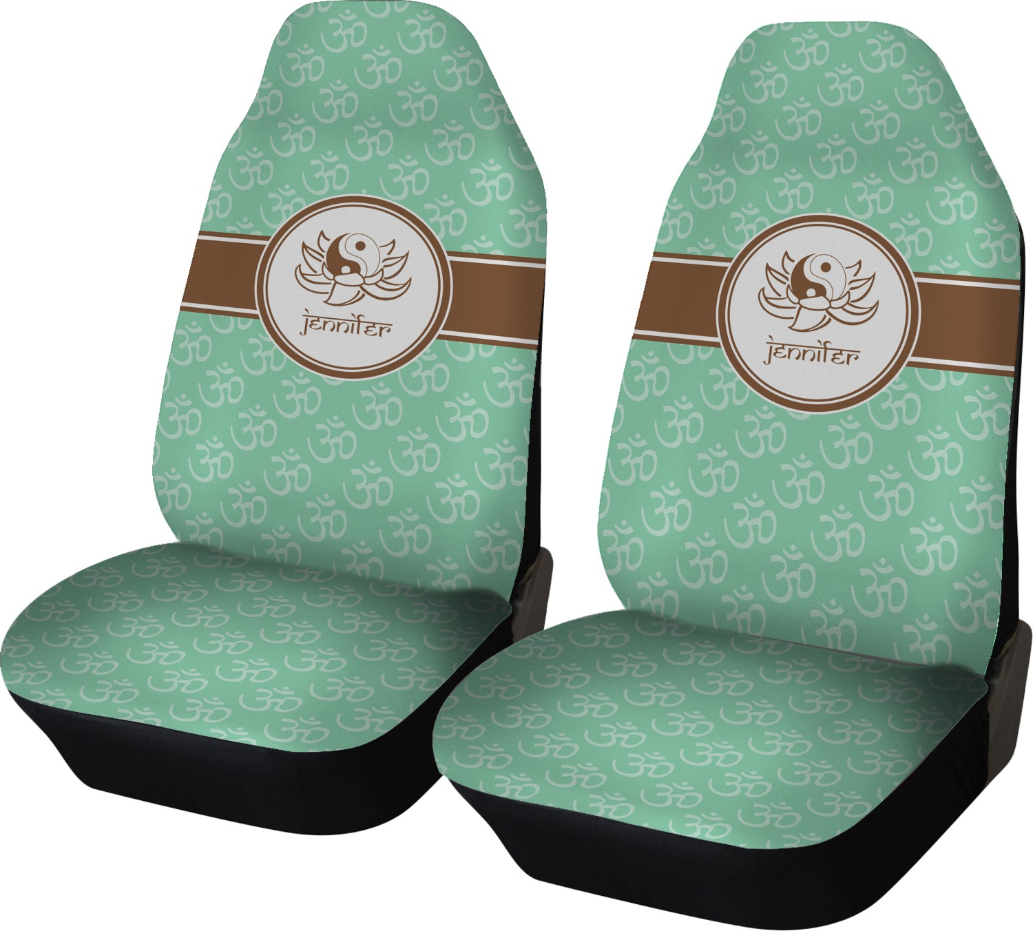 Om Car Seat Covers Set Of Two Personalized
