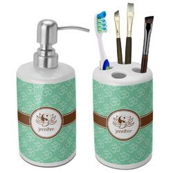 Om Bathroom Accessories Set (Ceramic) (Personalized)
