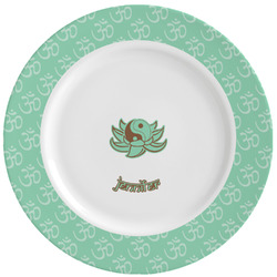 Om Ceramic Dinner Plates (Set of 4) (Personalized)
