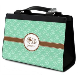 Om Classic Tote Purse w/ Leather Trim w/ Name or Text