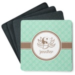 Om 4 Square Coasters - Rubber Backed (Personalized)