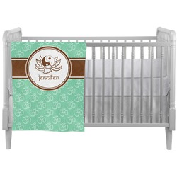 Om Crib Comforter / Quilt (Personalized)