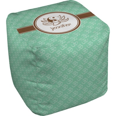 Om Cube Pouf Ottoman (Personalized)