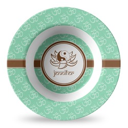 Om Plastic Bowl - Microwave Safe - Composite Polymer (Personalized)