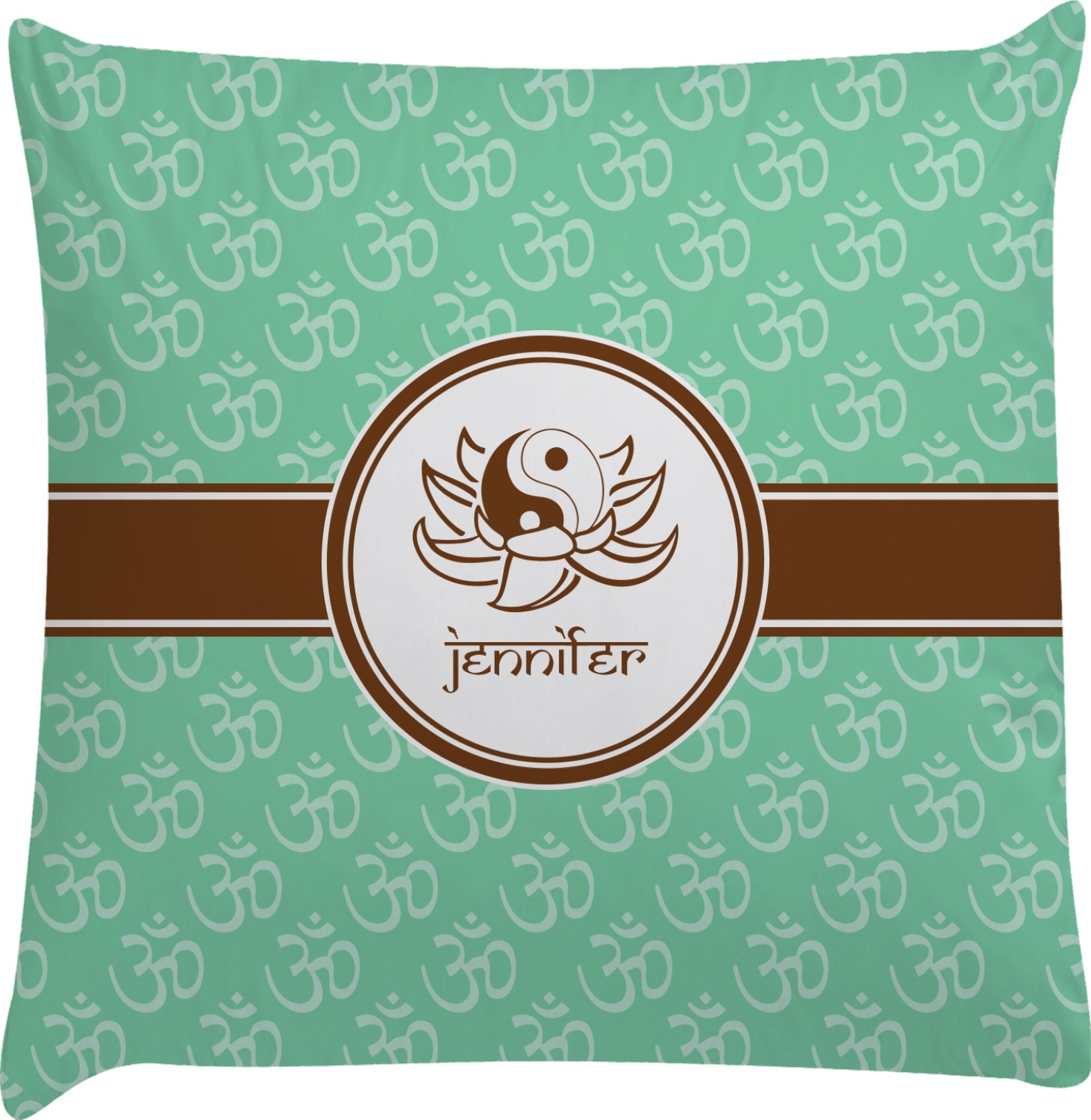Om Decorative Pillow Case (Personalized) - YouCustomizeIt