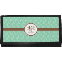Om Canvas Checkbook Cover (Personalized)