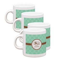 Om Espresso Mugs - Set of 4 (Personalized)