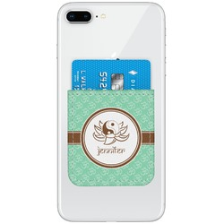 Om Genuine Leather Adhesive Phone Wallet (Personalized)