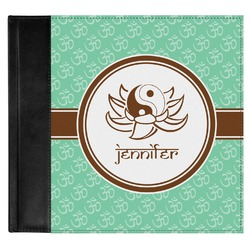 Om Genuine Leather Baby Memory Book (Personalized)